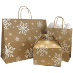 Holiday Patterned Paper Bags