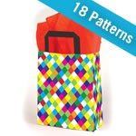 Premium Patterned Frosted Shoppers - 16