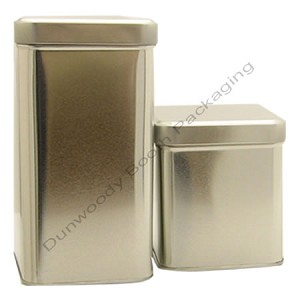 "Small Rectangular Tins - 3-1/2""x3-1/2""x4"""