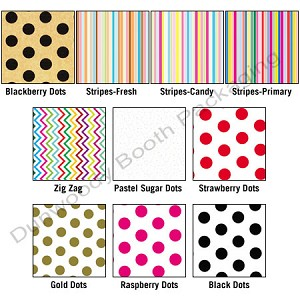 "Dots and Stripes Patterned Tissue Paper - 20"" x 30"""