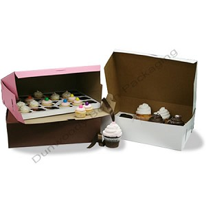 Cupcake Boxes - 12 cup - White