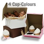 Cupcake Boxes - 4 cup - Colors