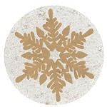 Round Snowflake Labels