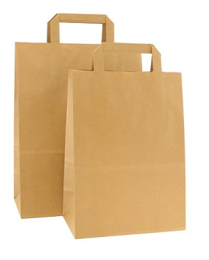 HD Square Handle Kraft Paper Shopping Bags - Per 100 - Petite-Tempo