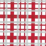 "24""x200ft Roll - 0266 Red & White Plaid Gift Wrap"