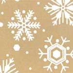 White Snowflake on Kraft Tissue Paper- 20