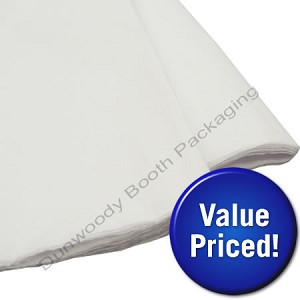 "Value Priced White Tissue Paper - 20""x30"""