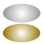Metallic Oval Labels