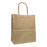 100% Recycled Kraft Paper Shopping Bags - Per Case 250 - Timmy