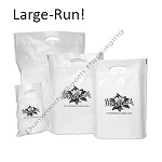 Large-Run Custom Printed Poly Boutique Bags - A Colours