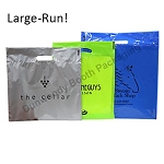 Large-Run Custom Printed Poly Boutique Bags - B Colours
