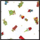 6A655288 - Christmas Critters 1 lb. Gusset Cellophane Bags With Pattern 3-1/2