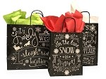 Holiday Chalkboard Paper Shopping Bags