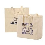 Custom Printed Natural Cotton Canvas Totes Cloth Bags - Minimum 500 Bags
