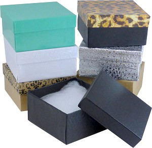 "#34 - 3-1/2""x3-1/2""x2"" Value Priced Jewellery Boxes"
