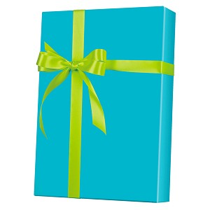 "24""x200ft Roll - 6117 Turquoise Gloss Gift Wrap"