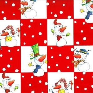 "24""x833ft Roll - 7356S Playful Snowman Gift Wrap"
