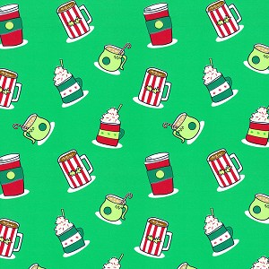 "24""x200ft Roll - 7901C Christmas Drinks Gift Wrap"