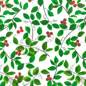 "24""x833ft Roll - 8226S Holly Berries Gift Wrap"