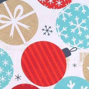 "24""x200ft Roll - 4566 Twinkling Ornaments Gift Wrap"