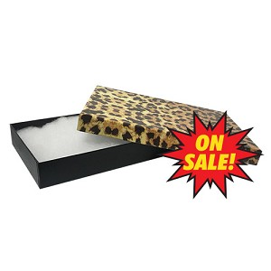 "#53 - 5-1/4""x3-3/4""x7/8"" - Leopard - Value Priced Jewellery Boxes - *SALE*"