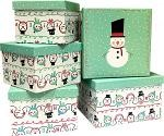 Snowman Square Nested Boxes