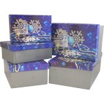 Frosted Reindeer Rectangle Nested Boxes