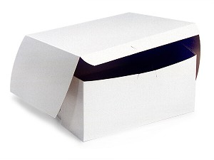 "White Cupcake Bakery Box to fit 4 Regular Cup Size per 100 - 7"" x 7"" x 3-1/2"""