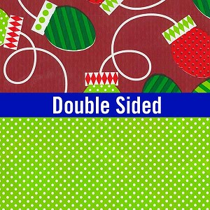 "24""x200ft Roll - 6332 Xmas Bulbs (Double Sided) Gift Wrap"