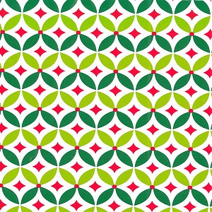 "24""x833ft Roll - 6349 Geo Holly Gift Wrap"