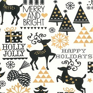 "24""x200ft Roll - 6354 Merry & Bright Gift Wrap"