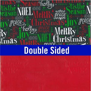 "24""x200ft Roll - 6363 Tis The Season Double Sided Gift Wrap"