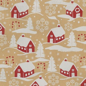 "24""x833ft Roll - 7018 Home for Xmas Gift Wrap"