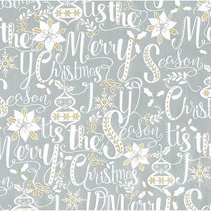 "24""x200ft Roll - 7020 Holiday Scripted Gift Wrap"