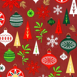 "24""x833ft Roll - 7183 Holiday Happening Gift Wrap"