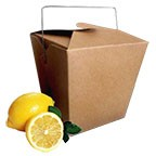 "3A603450 - Kraft Paper Take Out Boxes - Large 4""x3.5""x4"" - Per Pkg 12 (OUT OF STOCK)"