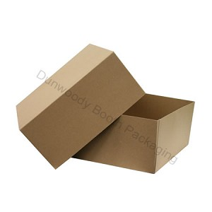 "Pop Up Giftware Boxes - #125 Kraft - 12""x12""x5-1/2"""