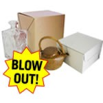 Blowout Folding Gift Boxes - #127 Kraft - 12