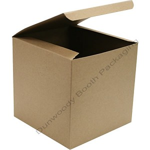 "Pop Up  Giftware Boxes - #44 Kraft - 4""x4""x4"""