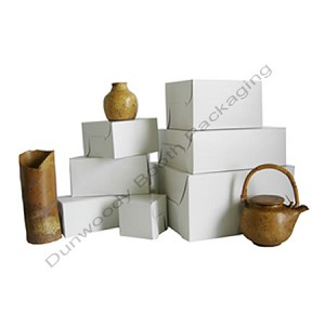 "Traditional White Folding Gift Boxes - #125 - 12""x12""x5.5"""