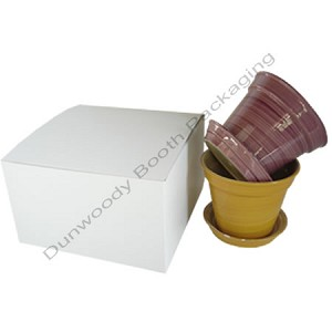 "Pop Up Giftware Boxes - #106 White - 10""x10""x6"""