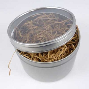 "Round Tins with Clear Lid - 3-3/4""x2-5/8"""