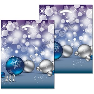 "Crystal Design Poly Boutique Bags- 12"" x 16"" x 3"""