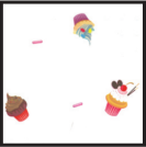 "6A655290 - Cupcakes 1 lb. Gusset Cellophane Bags with pattern 3-1/2"" x 2"" x 7-1/2"""