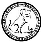 Black and White Dog and Cat Label - 200