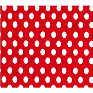 "24""x200ft Roll - 4194 Cherry Dots Gift Wrap"