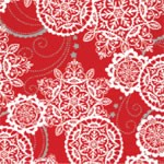 "24""x200ft Roll - 5463 Lacy Snowflakes Gift Wrap"