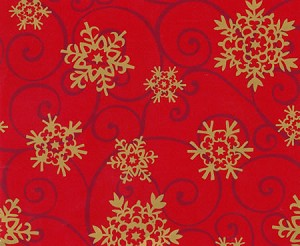 "24""x833ft Roll - 6266 Snowflake Medallions Gift Wrap"