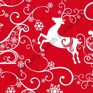 "24""x833ft Roll - 3160 Sleigh Ride Gift Wrap"