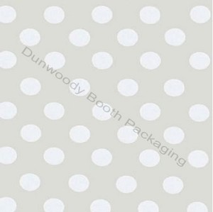 "24""x833ft Roll - 3106 Polka Dot Pearl Gift Wrap"